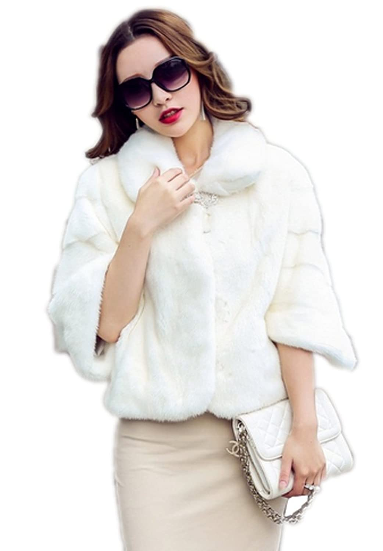 YR.Lover Damen wirklich Ganze Haut Fell Nerz Pelz kurz 1/2 Muffe Mantel&Jacke jetzt kaufen