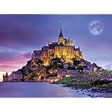 Games 750 Piece Majestic Castle Mont Saint Michel Jigsaw Puzzle