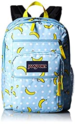 JanSport Big Student Classics Series Backpack - Blue Topaz Oh Bananas
