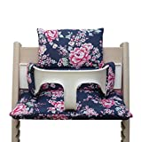 Blausberg Baby High Chair Cushion for Tripp Trapp Happy Flowers blue