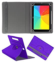 Acm Designer Rotating Case For Lg Gpad 2 10.1 Stand Cover Purple