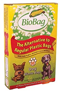 BioBag Dog Waste Bags, Standard Sized, 50-Count Bags (Pack of 4)