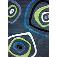 Modern Area Rug 8 Ft. X 10 Ft. 6 In. Design Studio 600 Charcoal