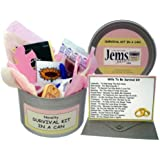 Wife To Be Survival Kit In A Can. Humorous Novelty Gift - Bride To Be Wedding Day Present & Card All In One. Gifts For Her/Gifts For Women. Customise Your Can Colour. (Pink/Cream)