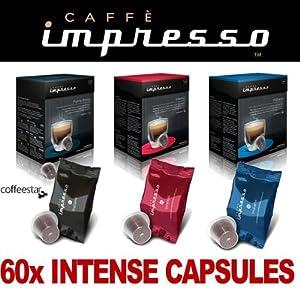 Buy 60 x Caffè Impresso Nespresso Compatible Coffee Capsules 3x Intense Espresso Blends from Caffè Impresso