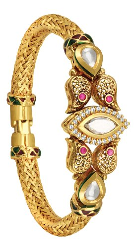 Spargz Antique style kundan colorful Kada For Women (multicolor)