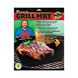 Miracle Grill Mat - Set of 2 Mats Barbecue Mat Nonstick for Outdoor BBQ and Camping  Reusable (Color: Black, Tamaño: 15.75X13)