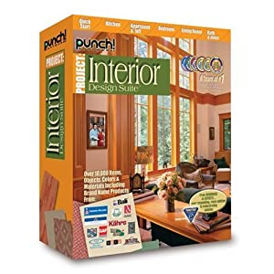 Interior Decorating Software on Amazon Com  Punch  Interior Design Suite  Old Version   Software