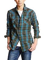 Diesel Camisa Hombre S-Ulphie (Oliva / Cielo)