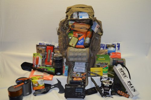 Bug Out Bag Loaded Eberlestock Operator G4 Pack In Dry Earth Color - 96 Hours Or More Of Emergency Food Water And Supplies
