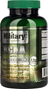BCAA enhanced with L-Glutamine (120 capsules) | Military Tested | Best BCAA Amino Acids