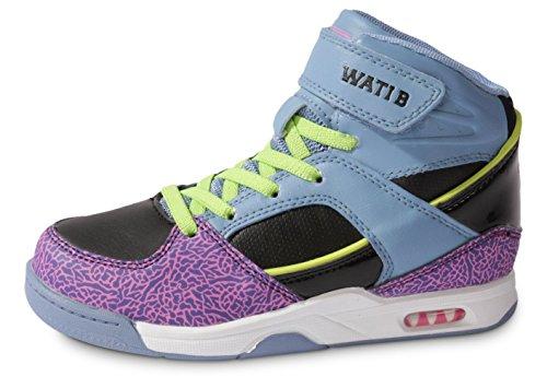 Wati B ,  Sneaker ragazzo Nero Violet/Bleu/Noir 30