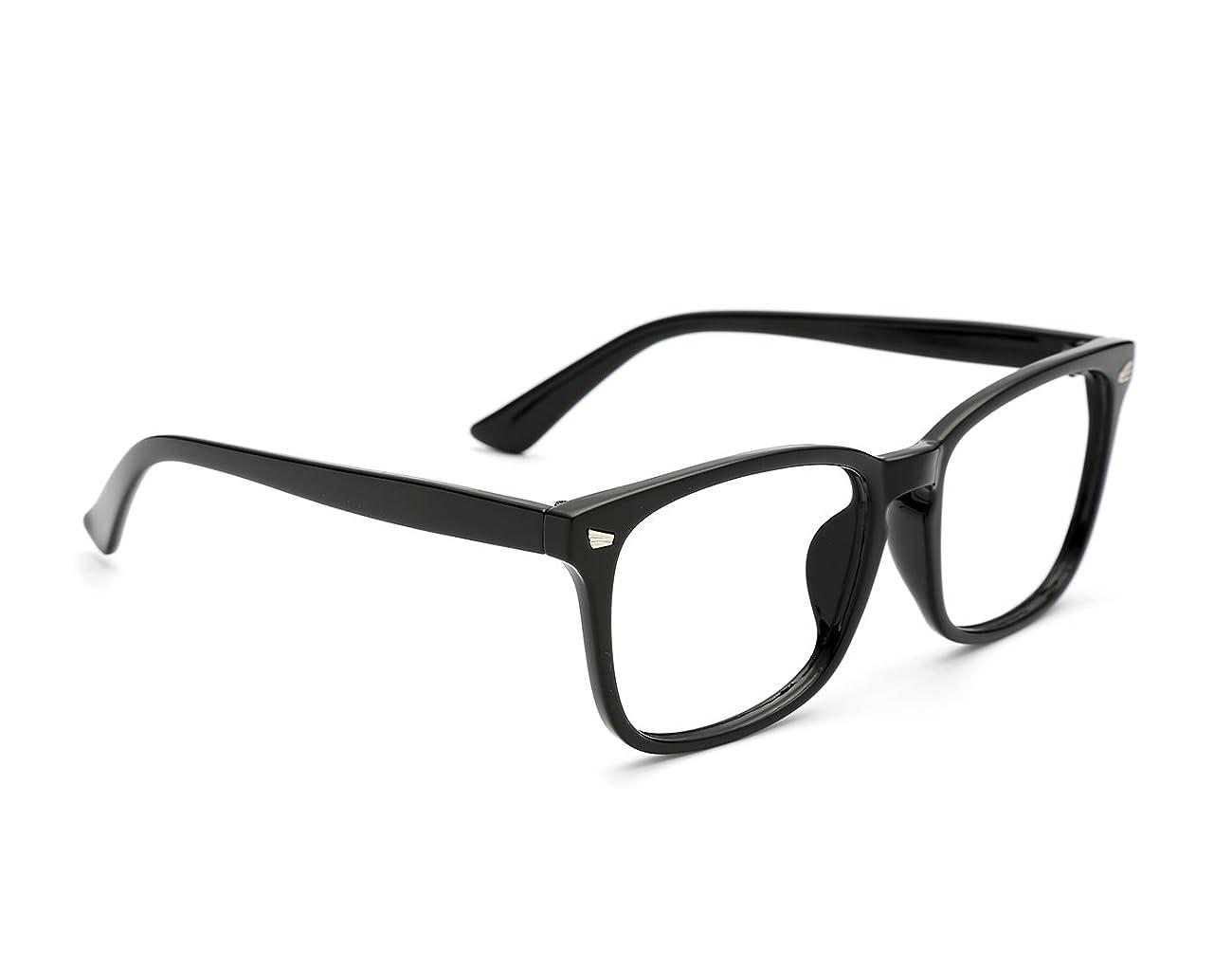 TIJN Unisex Wayfarer Non-prescription Glasses Frame Clear Lens Eyeglasses 1