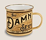 Trixie & Milo Enamel Coffee Mug (Damn Sexy)