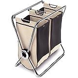 SimpleHuman Double X frame laundry hamper chromed steel - LT1004