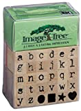 EK Success Image Tree Wood Handle Rubber Stamp Set, Antique Typewriter Alphab...