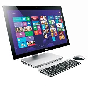 Lenovo A530 23-inch Multitouch All-In-One Desktop - Silver (Intel Core i5 4200M 2.5GHz, 8GB RAM, 1TB HDD, DVDRW, Wi-Fi, BT, Integrated Graphics, Windows 8.1)