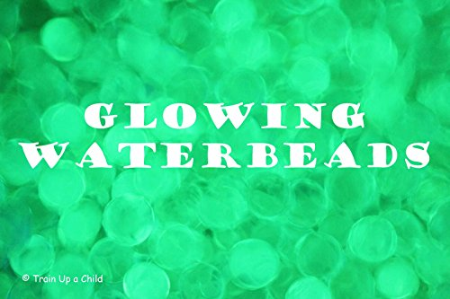 Glow-in-the-dark- Jelly BeadZ® Water Bead Gel 10 Gm Pack - GREEN - 1