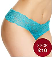 Low Rise Lace Bandeau Thong