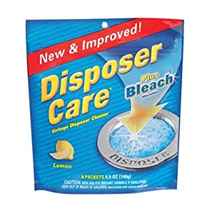 Iron Out/Lime Out Disposer Care plus Bleach Alternative, Garbage Disposal Cleaner, Lemon 4 ea