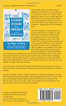 Recipes of Sweden: A Classic Swedish Cookbook (Good Food from Sweden): Inga Norberg: 9781880954270: Amazon.com: Books