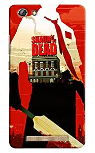 Omnam Shaun Of The Dead Printed Designer Back Case For Gionee Marathon M5 Lite