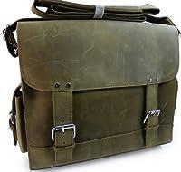 "Vagabond Traveler 13"" Cowhide Leather Messenger Handbag Collection L78 by Vagabond Traveler"