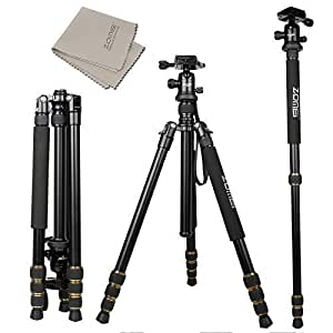 ZOMEi® Lightweight Q666 (Updated Version) Camera Tripod
