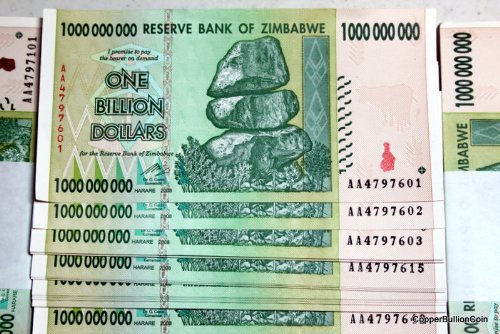 Currency Lot Of 100 Genuine Circulated Zimbabwe Bank Notes Billions Of Dollars