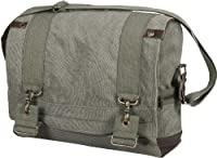 Large Vintage Pilot Messenger Bag Sling Flap - Olive Drab