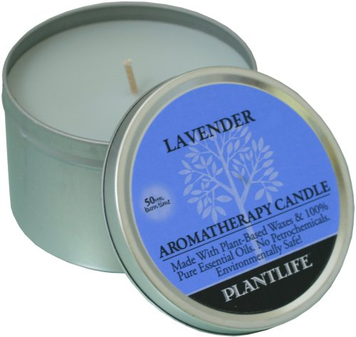 Lavender Aromatherapy Candle- made with 100% pure essential oils - 6oz tin