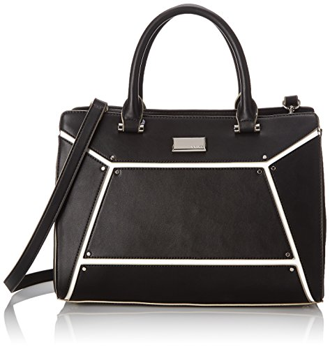 Nine West Nailed It Satchel Top Handle Bag, Black, One Size
