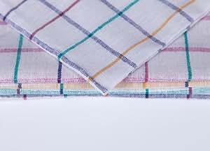 10x Geschirrtücher Karo farbsortiert Baumwolle 45x70 cm