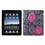 MyBat Back Protector Cover for iPad, Tulip Diamante (IPADHPCBKDM120WP)