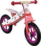Nicko Flower Pink Wooden Balance Bike...