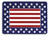 Creative Converting Red, White and Blue Patriotic Plastic Large Serving Tray, 16 x 12