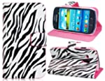 Zebra Striped Faux Leather Flip Case...