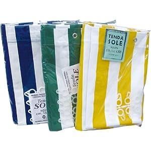Tenda da sole in cotone telato  290x290 cm  colore BiancoVerde   recensioni dei clienti