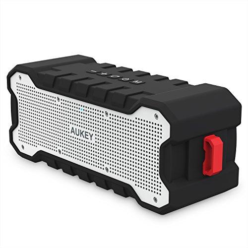 AUKEY Bluetooth スピーカー ワイヤレス 防水スピーカー 30時間連続再生 内臓マイク 三脚穴搭載 iPhone、iPad、Android機器に対応 SK-M12