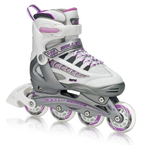 Roller Derby Rocket MDX Adjustable Girl's Inline Skates Skate (Medium)