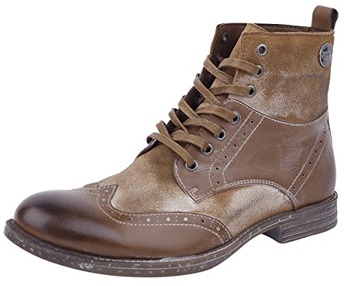 Rock Rebel by EMP Vintage Lace-Up Boots Anfibi/Stivali marrone EU44