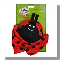 Jolly Pets Lady Bug Squeak Tug Toy for Pets, Medium