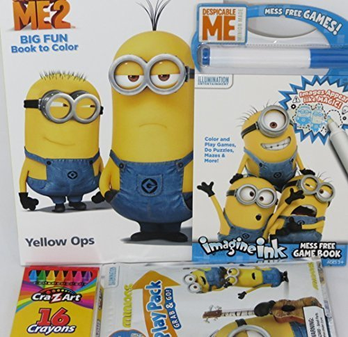 Minions Coloring Books For Kids 4 Piece Set With Book Play Pack Imagine Ink