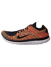Nike Men's Free Flyknit 4.0 11.5 M US Black Volt Bright Crimson