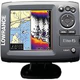 Lowrance Fischfinder/GPS-Kartenplotter Elite-5, grau