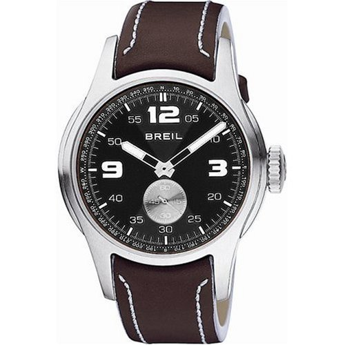 Breil BW0214 Unisex 'Globe' Leather Strap Watch