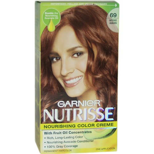 Garnier Nutrisse Hair Color #69 Intense Auburn (Pack of 3