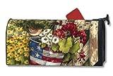 MailWraps Patriotic Pail Mailbox Cover #02039