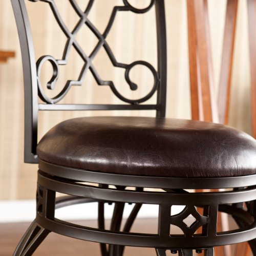 SEI Georgetown Swivel Counter Stool, Bronze