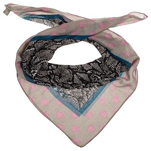 Cindy Animal Print Sciarpa Codello sciarpetta da donna sciarpa estiva Taglia unica - rosa